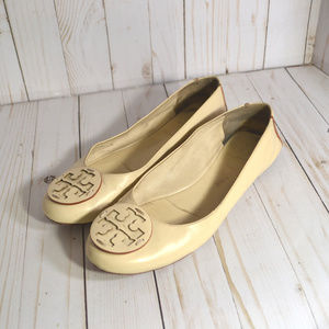 Tory Burch Minnie Leather Flats Ballerina Shoes